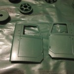 Parts painted